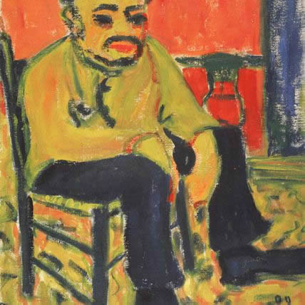 Erich Heckel, Seated Man, 1909