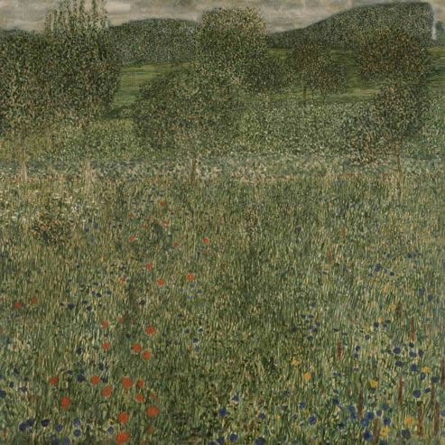 Orchard painting by Gustav Klimt