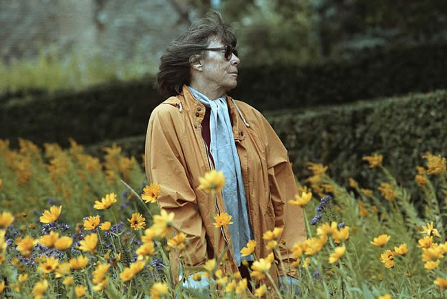 Painter Joan Mitchell in a Field