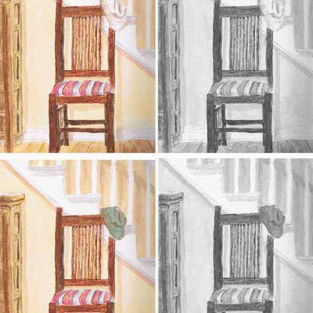 Chair still life painting